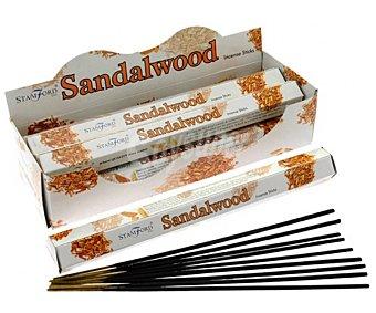Stamford Palitos de incienso aromáticos, aroma a madera de sándalo, 3x24x3