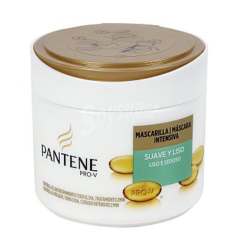 Pantene Pro-v Mascarilla Intensiva Suave y Liso para cabello Normal 300 ml