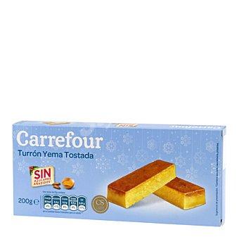 Carrefour Turrón de yema tostada sin azúcares añadidos 200 g