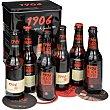 Cerveza rubia Reserva Especial estuche latón 6 botellas 33 cl 1906