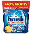 Lavavajillas maquina pastillas todo en 1 limon 35+15 52 unidades Finish