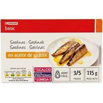 Eroski Basic Sardina en aceite de girasol Lata 115 g