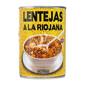Hacendado Lenteja riojana (chorizo) Bote de 420 g
