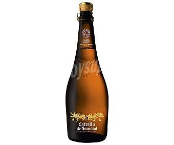 Estrella Galicia Cerveza especial Navidad botella de 75 centilitros