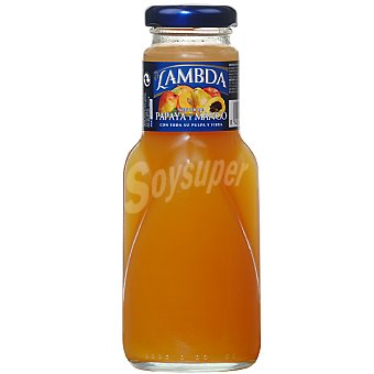 Lambda Néctar de papaya y mango botella 250 ml 250 ml
