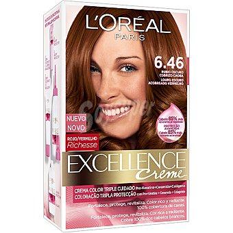 Excellence L'Oréal Paris Tinte creme nº 6.46 Rubio Oscuro Cobre Caoba 1 unidad