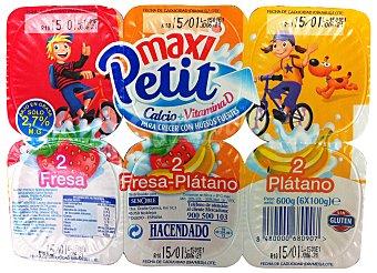Hacendado Petit frutas variadas maxi Pack 6 x 100 g - 600 g