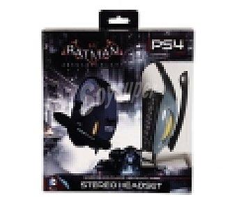 Indeca Auricular gaming estéreo, ergonómico y ajustable con micrófono y diseño Batman Arkham Knight para Playstation 4 1 unidad