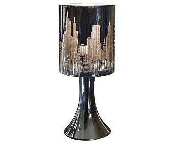 Dupi Lámpara de sobremesa color negro modelo New York Touch para bombillas con casquillo E14 hasta 40 Wattios, 28x10 centímetros 1 unidad