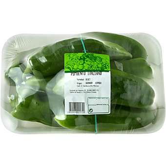 Pimiento Verde para Freír de Málaga - Peso Aproximado Bandeja 700 g