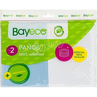Bayeco Paño microfibra especial secavajillas Envase 2 unidades
