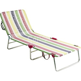 ALCO Hamaca de playa sin muelles en aluminio a rayas multicolor