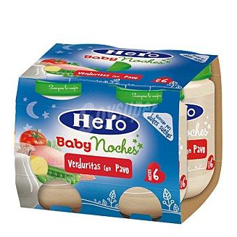 Hero Babynoches Tarrito de verduritas con pavo Pack 4x190 g