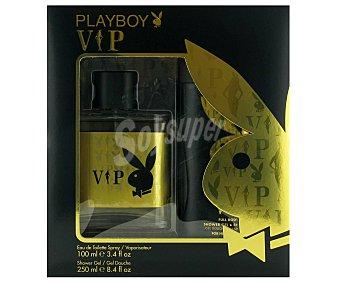 Playboy Fragrances Estuche Colonia Hombre Vip: Colonia 100ml+ Gel de Ducha 250ml 1u