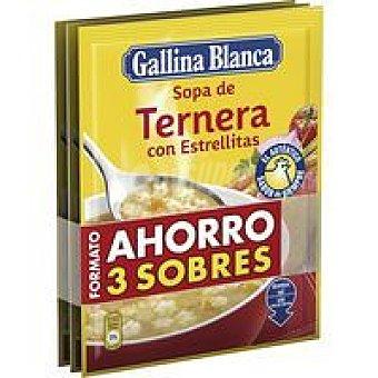Gallina Blanca Sopa de ternera Pack 3 x 74 g