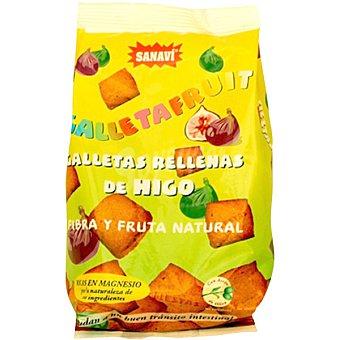 SANAVI Galletas integrales rellenas de higo pera y fruta natural Paquete 250 g