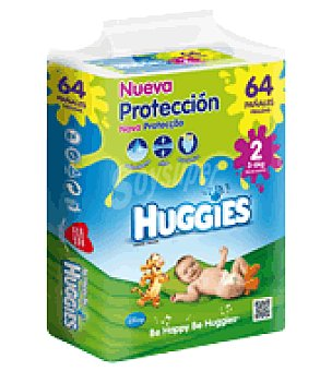 Huggies Pañal Mono Talla 2 (3-6kg) 64 ud