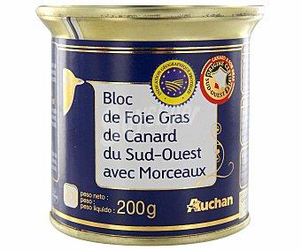 Auchan Bloc de foie gras de pato con trozos 200 gramos