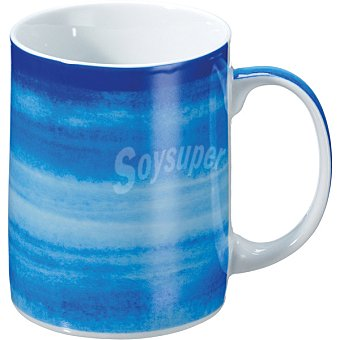 CASACTUAL Strippes Mug en color azul degradado 33 cl