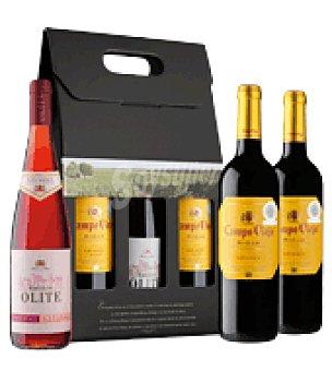 Campo Viejo Estuche de Vinos D.O. Rioja: 1 Rosado Castillo de Olite + 2 Tinto Crianza 1 ud