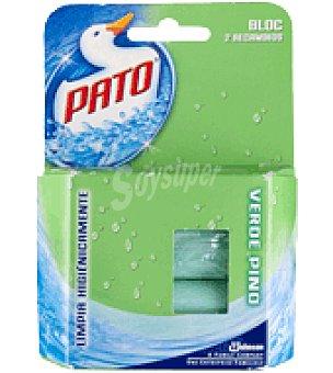 Pato Desodorizante WC en pastilla Verde Fresco Pack de 2x40 g