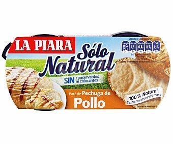 La Piara Sólo Natural Paté de Pollo Pack 2 Unidades de 75 Gramos