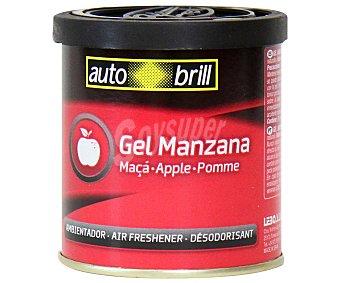 AUTOBRILL Ambientador en Gel para Coche en Envase de Lata con Olor a Manzana 1 Unidad