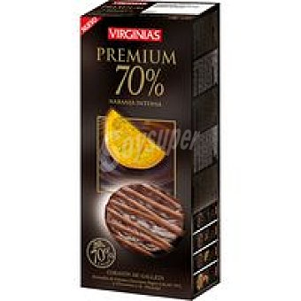 Virginias Galleta premium 70% cacao a la naranja Caja 120 g