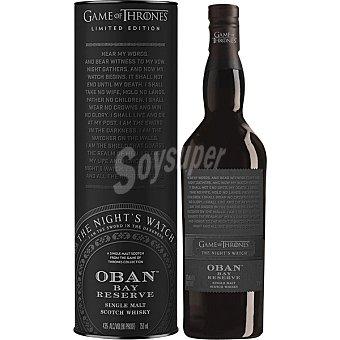 Oban Whisky escocés Little Bay Reserva single malt Edición Limitada Juego de Tronos La Guardia Botella 70 cl