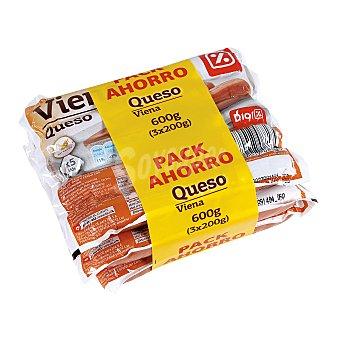 DIA Salchichas Viena con queso envase 3 x 200 gr