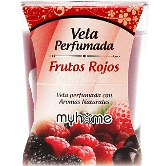 S&S Myhome vela perfumada Frutos Rojos con aromas naturales vaso 1 unidad Vaso 1 unidad