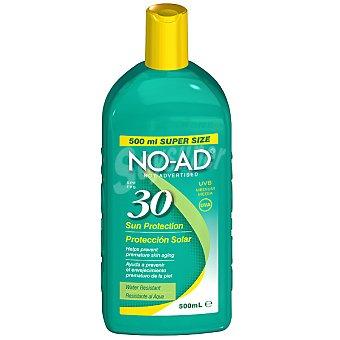 NO-AD Protección solar FP-30 ayuda a prevenir el envejecimiento prematuro de la piel resistente al agua Frasco 500 ml