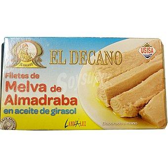 EL DECANO filetes de melva de Almadraba en aceite de girasol  lata 78 g neto escurrido