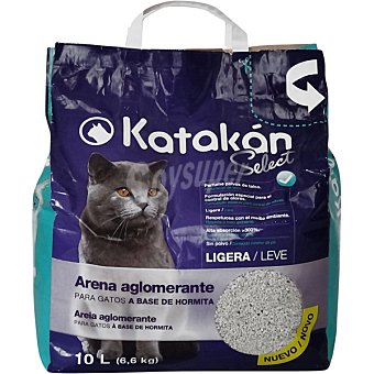 KATAKÁN Arena aglomerante para gatos ligera con perfume polvos de talco Bolsa 10 L