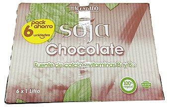 HACENDADO Bebida de soja con chocolate 6 envases de 1 l