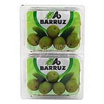 Barruz Aceitunas manzanilla sin hueso pack 2 envases 90 g neto escurrido Pack 2 envases 90 g