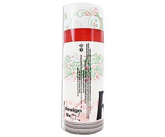 Renova Rollos de papel higiénico de color blanco con decorado navideño y doble capa 9 unidades