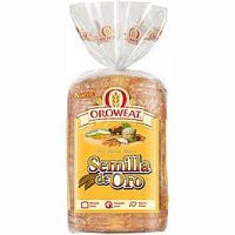 OROWEAT Semilla de Oro Pan de molde Paquete 600g