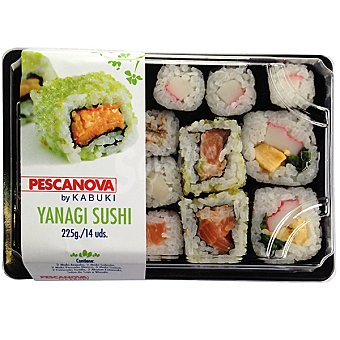 PESCANOVA yanagi sushi  14 unidades ( 225 g )