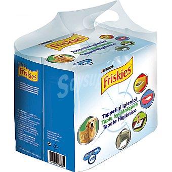 Friskies Purina Tapete higiénico para mascotas medida 60x60 cm Paquete 15 unidades