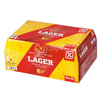 DIA Cerveza rubia nacional lager pack 24 botellas 25 cl Pack 24 botellas 25 cl