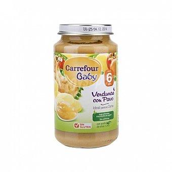 Carrefour Baby Tarrito de verduras con pavo desde 6 meses sin gluten 250 G 250 g