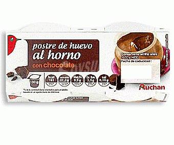 Auchan Postre de Huevo al Horno con Chocolate 2x100g