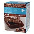 Barritas sustitutivas sabor chocolate 210 g Carrefour