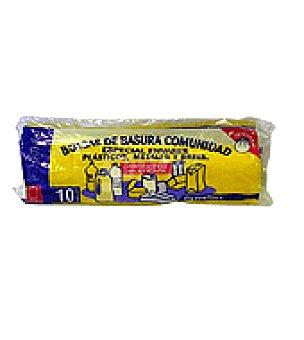 Carrefour Bolsa de basura para comunidad especial reciclado 84 x 105 cm 10 ud