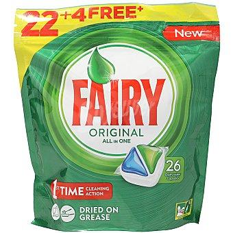 Fairy Lavavajillas máquina todo en 1 Bolsa 22+4 dosis