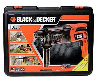 Black&Decker Taladro-martillo electroneumático de 600 Wattios, reversible, con empuñadura secundaria y tope de profundidad 1 unidad