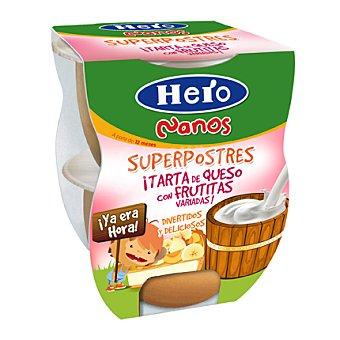 Hero Postre Tarta de queso con frutitas variadas Nanos 130 g