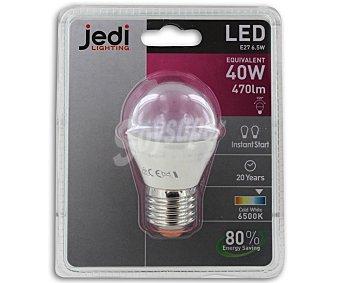 JEDI Bombilla Led Esférica 6.5W, E27, Luz Fria 1 Unidad