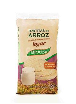 BIOCOP Tortitas de arroz sabor yogur Envase 100 g